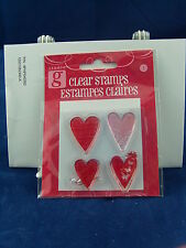 NEW STUDIO G CLEAR STAMP SET FOUR HEART DESIGNS VALENTINES DAY VC0037