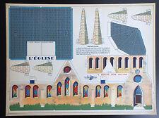 Ancienne planche à découper L'église Volumetrix