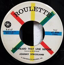 Johnny Strickland Rockabilly Early 45 Don't Leave Me Lonely I've Heard Line