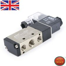 "2 position 5 way air pneumatique electrovanne kit DC12V 4.8VA in-out 1/4"" pt"