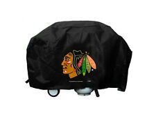 "Chicago Blackhawks Vinyl Grill Cover [NEW] NHL 68"" Wide Grilling Barbeque CDG"