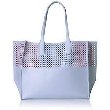 Emilie M. 4655 Womens La Mar Blue Perforated Tote Handbag Purse Extra Large BHFO