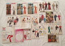 Giant Lot of Vintage Sewing Patterns 60s, 70's, 80's and 90's (126 patterns)