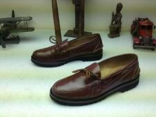 MINTY COOL ORVIS BURGUNDY OXBLOOD LEATHER SLIP ON MOCCASIN LOAFER SHOES SIZE 12M