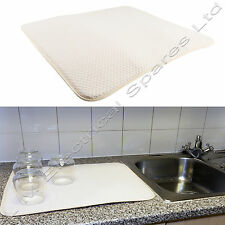 Large Stylish Foam Microfibre Rapid Dish Drying Mat Towel 400 x 450mm