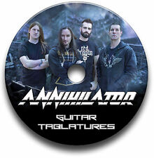 ANNIHILATOR TRASH METAL ROCK GUITAR TABS TABLATURE SONG BOOK SOFTWARE CD