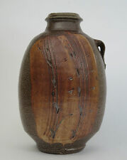 Phil Rogers studio pottery lugged salt glaze bottle vase