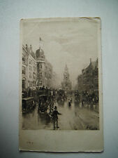 The Strand Early 1900s Old Postcard 1908 CW Faulkner London