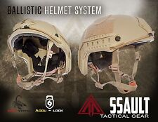 Ballistic IIIA SOHAH Gunfighter Kevlar Helmet SEAL -Assault Tactical Mich L/XL
