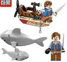 2016 Pirates Series Sharks Building Block Set Kids Bricks Toy Compatible With