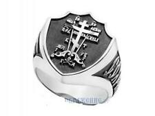 Mens Silver Russian Orthodox Ring the Cross