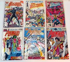 Vintage Marvel West Coast Avengers Annuals Comic Books 1-6 Lot of 6
