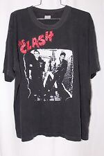 VINTAGE 80's 90's THE CLASH T-SHIRT SZ XL Parking Lot BOOTLEG PUNK