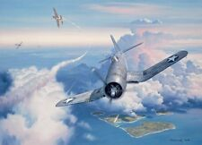 """Zero Fighter Sweep"" Roy Grinnell Print co-signed by Ace Lt. Kenneth A. Walsh"
