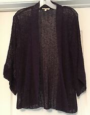 EILEEN FISHER CARDIGAN/ SHRUG  OPEN FRONT WEAVE  LINEN BLEND , Size M