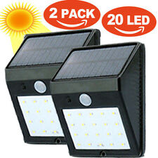 2 * 20LED Solar Powered PIR Motion Sensor Lamp Outdoor Waterproof  Wall Light