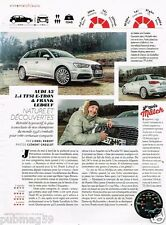 Coupure de Presse Clipping 2015 (1 page) Audi A3 1,4 TFSI Frank Leboeuf
