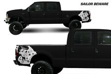 Vinyl Rear Decal Sailor Beware Wrap Kit for Ford F-250/F-350 99-06 Matte White