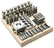 41 Pc DAPPING BLOCK & PUNCH SET METAL FORMING KIT JEWELRY MAKING MEATALSMITH