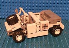 Custom Lego WW2 Waffen SS Kubelwagon with Driver, Officer! & Custom Cammoflage!