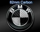 Fits BMW 82mm Carbon Fibre Boot Bonnet Badge Emblem Roundel - 1 3 5 6 7 X Z