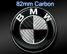 Fits BMW 82mm Carbon Fibre Boot Bonnet Badge Emblem Roundel - 1 3 5 6 7 X Z