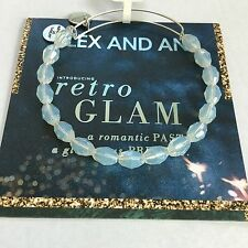 "ALEX AND ANI ""SERENITY - PEARLY LIGHT"" BEADED BRACELET IN RUSSIAN SILVER. NWT!"
