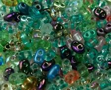 """Twin 2 Hole Czech Glass Seed Beads """" MIXTURE COLOR # 50 """" 50 Grams"""