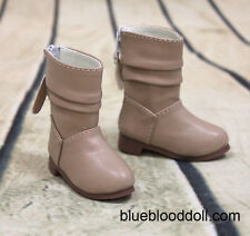 1/4 bjd msd girl doll tan color short boots shoes dollfie luts minifee S-108M