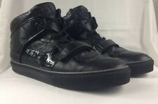 Auth 100% Louis Vuitton Mens Sneakers LV High-Top Tower Shoes Black Sz 12 US 13