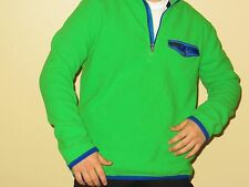 NWT Polo Ralph Lauren Men Half Zip Fleece Pullover Green Vintage size Medium