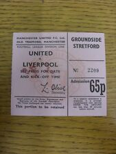 18/02/1976 Ticket: Manchester United v Liverpool ['See Press For Date & Kick-Off