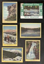White Mtns. (19) Colored Mini Views & Mailing Envelope