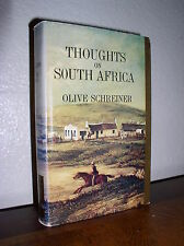 Thoughts on South Africa by Olive Schreiner (1976,HC,DJ,Africana Reprint Lib#10)