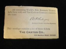 UNOPENED 1893 Worlds Columbian Expo Chicago Admission Tickets Amer Bank Note Co