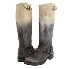 FRYE BOOT VERONICA SLOUCH STONE OMBRE STONEWASH BLACK LEATHER VERA CLASSIC 7 NEW