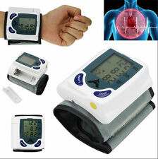 Digital Wrist Blood Pressure Monitor & Heart Beat Meter Memory LCD Screen Gift