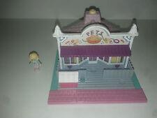 1993 - Polly Pocket Pet Shop animalerie + 1 person - Pollyville - Bluebird Toys