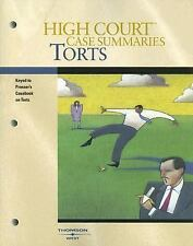 High Court Case Summaries on Torts (Keyed to Prosser, 11th Edition)