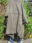 German Army Poncho Waterproof Thick Heavy Duty Rubberized Green Military Surplus