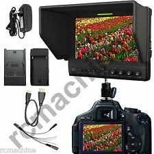 "Lilliput 7"" 663/O IPS 1080P HDMI In & Out Monitor for Canon 5D2 5D3 II LP-E6 adp"