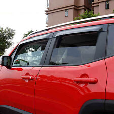 Fit for Jeep Renegade 2015 2016 2017  Window Visors Side Mirror Rain Guard Trim