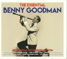 THE ESSENTIAL BENNY GOODMAN - 2 CD BOX SET - 40 ORIGINAL RECORDINGS