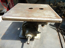 "EARLY DELTA QUALITY PIPE ARM 24"" SCROLL SAW PLUNGER HOUSING W/ TABLE"