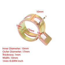New 10Pc 15mm/0.59 inch Spring Clip Fuel Oil Water Hose Pipe Tube Clamp Fastener