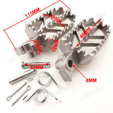 Stainless Steel FootPegs Foot Pegs For Pit Bike Pitster Pro CRF 50 70 YCF SSR