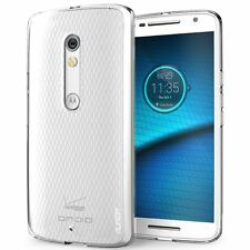 Motorola Moto Droid Maxx 2 Verizon Clear Cover TPU Bumper Shock Proof Case