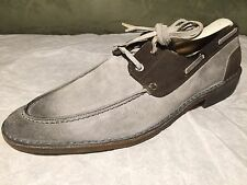 Dolce & Gabbana Distressed Gray Suede Leather Lace Up Shoes US 8.5 / 40