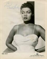 PEARL BAILEY SINGER / ACTRESS IN PORGY & BESS PETER GUNN SIGNED PHOTO AUTOGRAPH