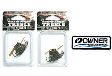 2 pack Owner Treble Hook ST 41BC #6 Cutting Point 5641-051 + 1 Owner's patch